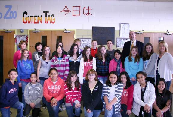 Memorial Middle School students