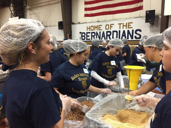 St. Bernard's High School Students Give Back