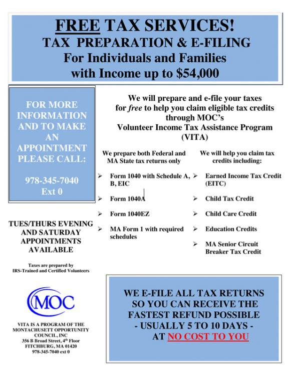 Volunteer Income Tax Assistance Available