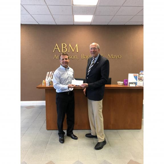 Anderson Bagley & Mayo donates $1000 to Combat Hunger Initiative